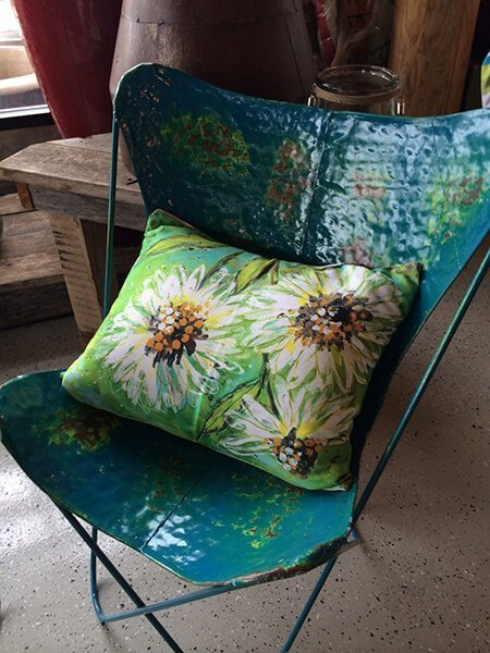 Recycled Metal Outdoor Chair