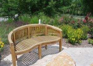 Outdoor Wood Bench Unique Design
