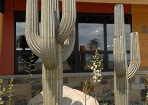 Metal Cactus Garden Art Decor