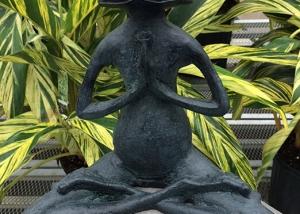Praying Frog Garden Art