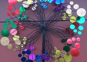 Colorful Metal Flower Garden Decor