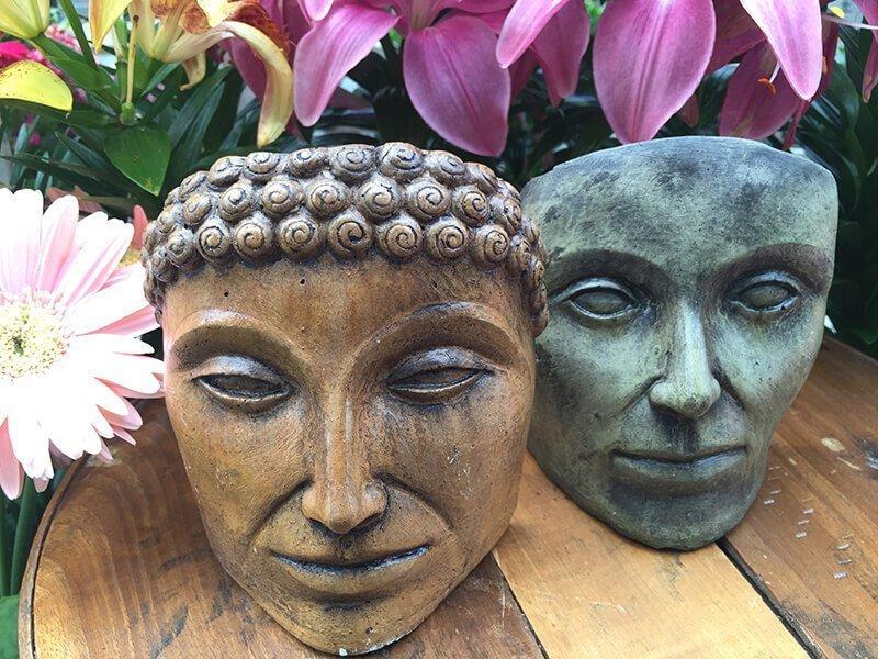 Outdoor Garden Art Heads and Faces