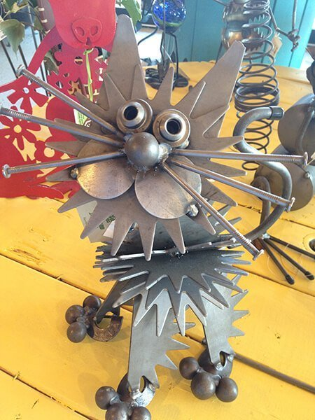 Garden Art Metal Cat