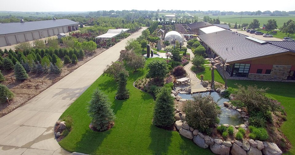 Overview Of Ted Lare Design U0026 Build Garden Center In Des Moines Iowa