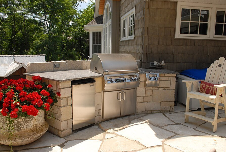 Outdoor BBQ Grill and Patio