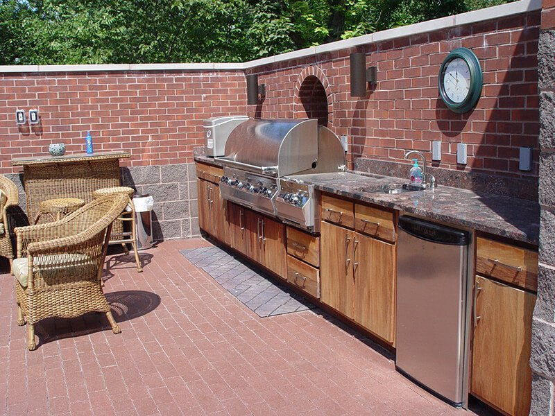 Brick Outdoor Kitchen with barbeque
