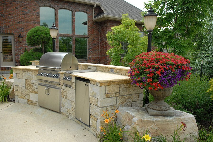Outdoor barbeque grill by Ted Lare