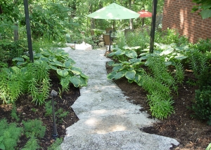 Stone Pathway and Gazebo