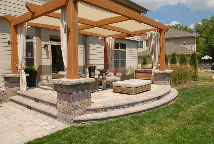 Outdoor Living Step up Patio and Loungers
