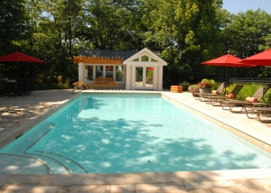 Outdoor Pool and Loungers Landscaping