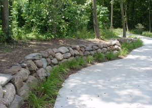Small Boulder Retaining Wall