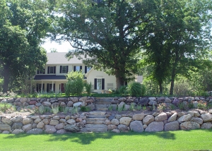 Boulder Retaining Walls landscaping by Ted Lare
