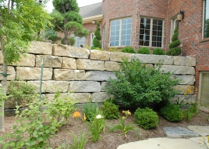 Stone Brick Retaining Wall design by Ted Lare