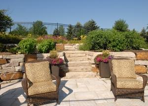 Stone Brick Stairs and Patio