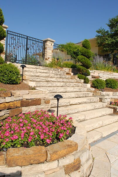 Rock Stairway and Rock Retaining wall