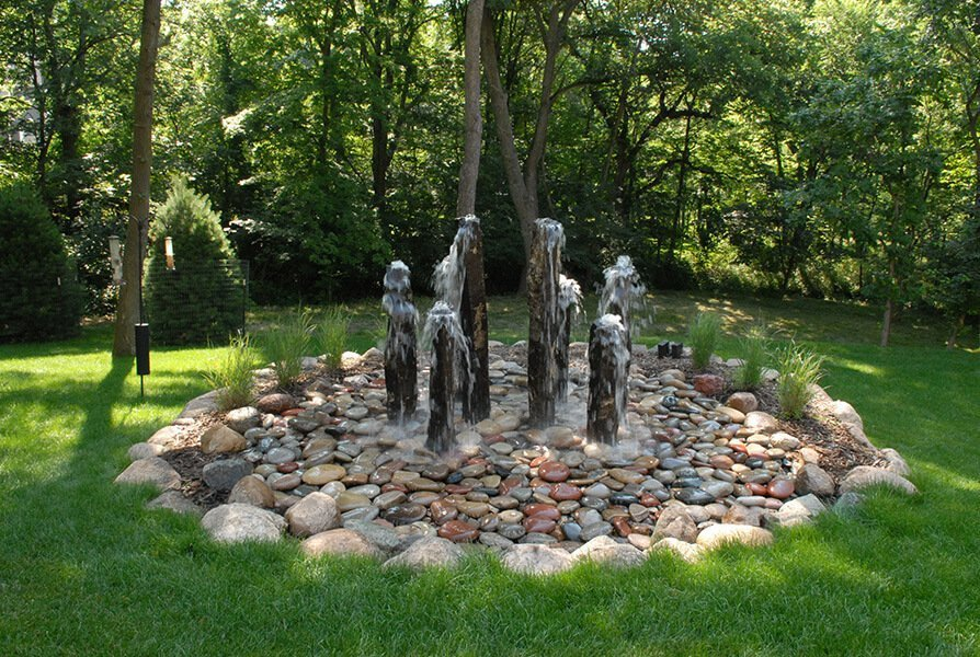 Stone Fountain Outdoor Living