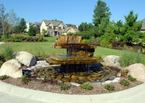 Big Stone Fountain with Boulders Outdoor Living