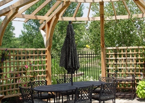 Outdoor Gazebo and Tables
