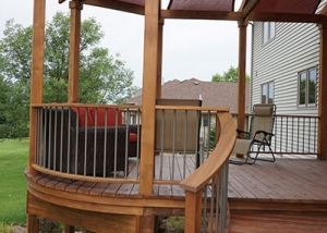 Wood Deck Porch Backyard Landscaping by Ted Lare