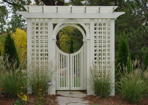 White Gazebo and Garden