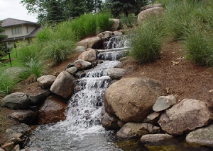 Outdoor Waterfall and Boulder Design