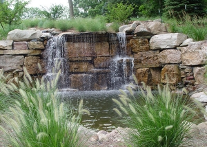 Outdoor Water Feature Waterfall Pool
