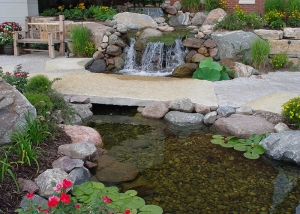 Boulder Design Lilypads and Pond Outdoor Design
