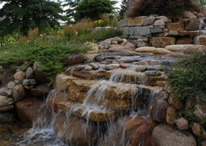 Outdoor Boulder Waterfall Feature
