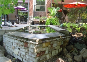Modern Stone Pool Feature