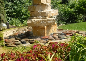 Beautiful Custom Rock Water Fountain Feature
