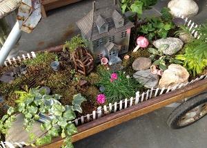 Wagon Fairy Garden Design