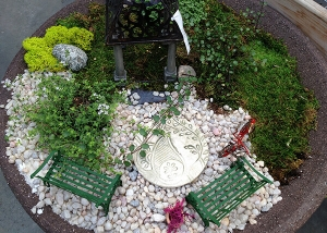 Moss and stone Fairy Garden Design