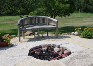 Outdoor Firepit Landscaping