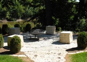 Large boulder Outdoor Firepit