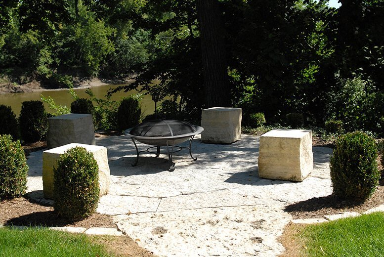 Large boulder Outdoor Firepit