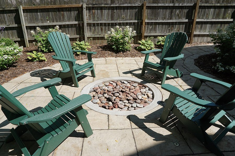 Simple Outdoor Fire Pit on Stone Patio