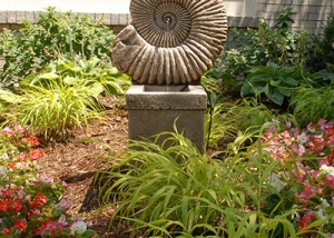 Snail Shell Statue Water Fountain
