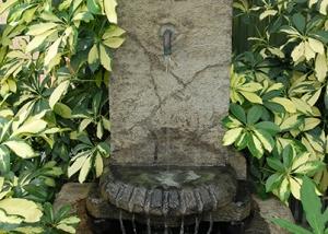 Rustic Stone Water Fountain