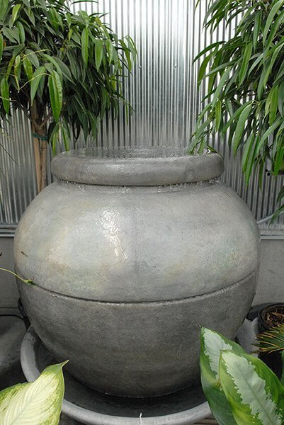Large Planter Pot Water Fountain Design