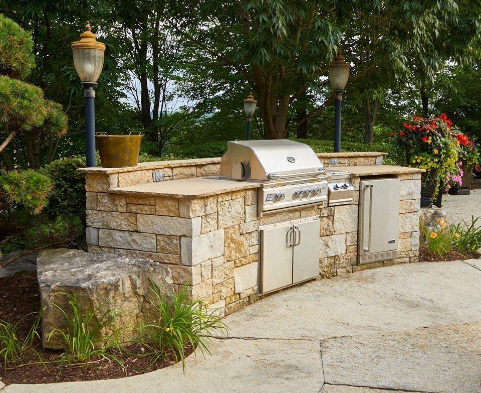 tedsgardens-stone-outdoor-kitchen - Ted Lare - Design & Build