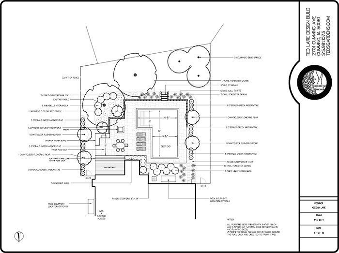 Professional landscaping design plans ted lare design build landscape design plans blueprint malvernweather Images