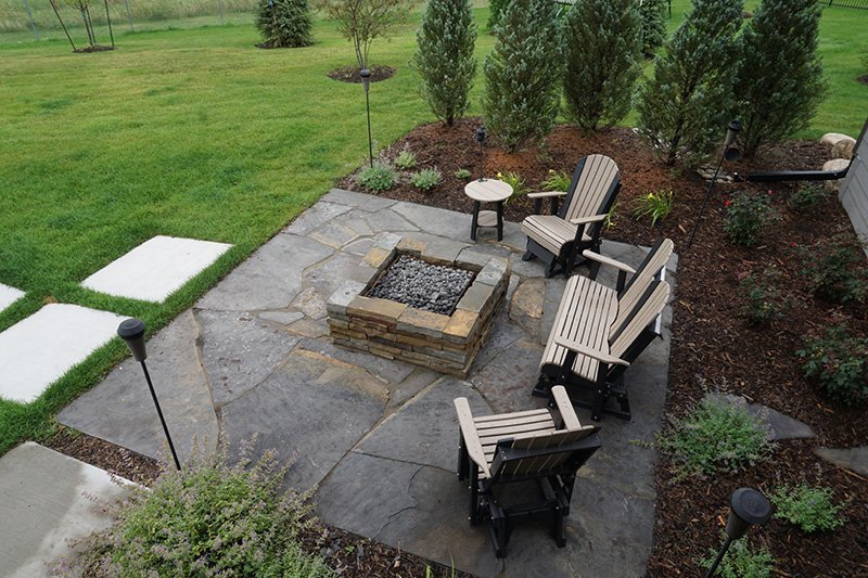 Stone Patio Firepit Ted Lare Design Build